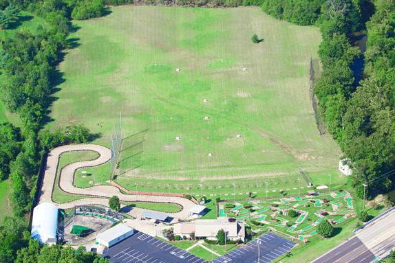 aerial view of cedar creek sports center